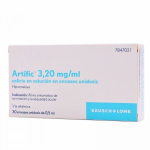 Artific 3,20 mg/ml Colirio en Solución en Envases Unidosis