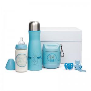 Suavinex Canastilla personalizada de regalo para bebé Meaningful Life azul