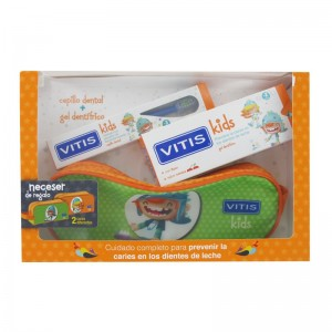 Vitis Kids Pack Gel dentífrico + Cepillo dental + Neceser