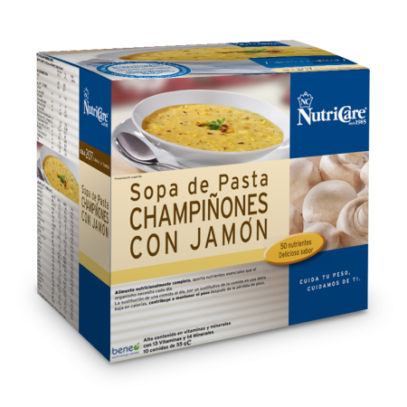 Nutricare Sopa De Pasta, Champiñones Con Jamón