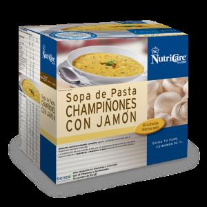 Nutricare Sopa De Pasta, Champiñones Con Jamón. Con Apoyo y Seguimiento continuado de tu Asesor NutriCare