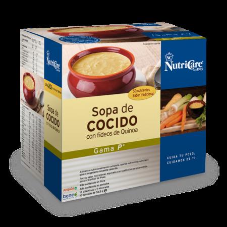 Nutricare Sopa de Cocido con Fideos de Quinoa. Con Apoyo y Seguimiento continuado de tu Asesor NutriCare