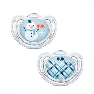 Nuk Chupete Silicona Tetina Anatómica Freestyle Winter 2 unidades