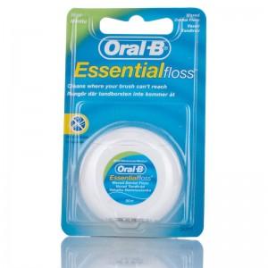 Oral-B Essential Floss Flúor Seda Con Cera Menta 50M