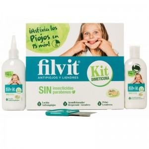 Filvit Kit Sin Insecticidas Loción Afixiapiojos y Acondicionador