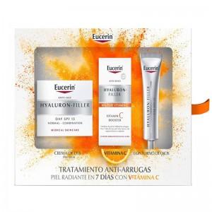 Cofre Eucerin Hyaluron-Filler Elasticity + serum + contorno de ojos