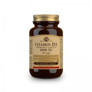Solgar Vitamina D3 1000 UI Comprimidos Masticables