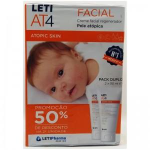 Leti AT4 Crema Regeneradora Facial Duplo