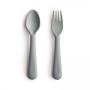 Mushie Juego de tenedor y cuchara