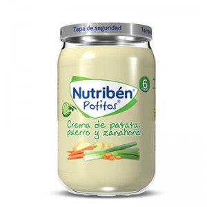 Nutribén Potito Crema de patata, puerro y zanahoria