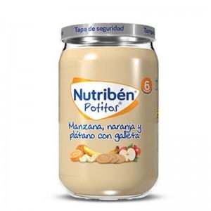 Nutribén Potito Manzana, Naranja y Plátano con Galleta