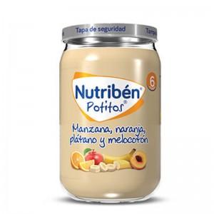 Nutribén Potito Manzana, Naranja, Plátano y Melocotón