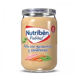 Nutribén Potito Pollo con Guisantes y Zanahorias
