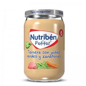 Nutribén Potito Ternera con Judías Verdes y Zanahorias