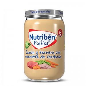 Nutribén Potito Jamón y Ternera con Menestra de Verduras