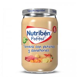 Nutribén Potito Ternera con Patatas y Zanahorias