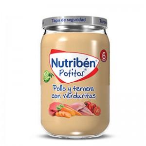 Nutribén Potito Pollo y Ternera con Verduritas