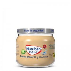 Nutribén Potito Inicio Pollo con Guisantes y Zanahorias